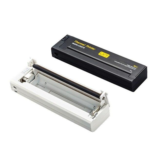 Mini lampka przenośna drukarka A4 mobilna biurowa drukarka termiczna + interfejs USB, mała kompaktowa drukarka termiczna 216mm do laptopa