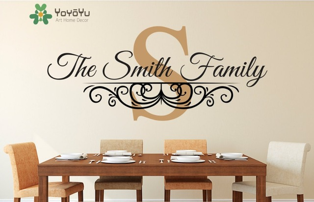 Family Name Established Date Personalized Monogram Wall Decal Living Room  Decor Customize Vinyl Wall Art Sticker