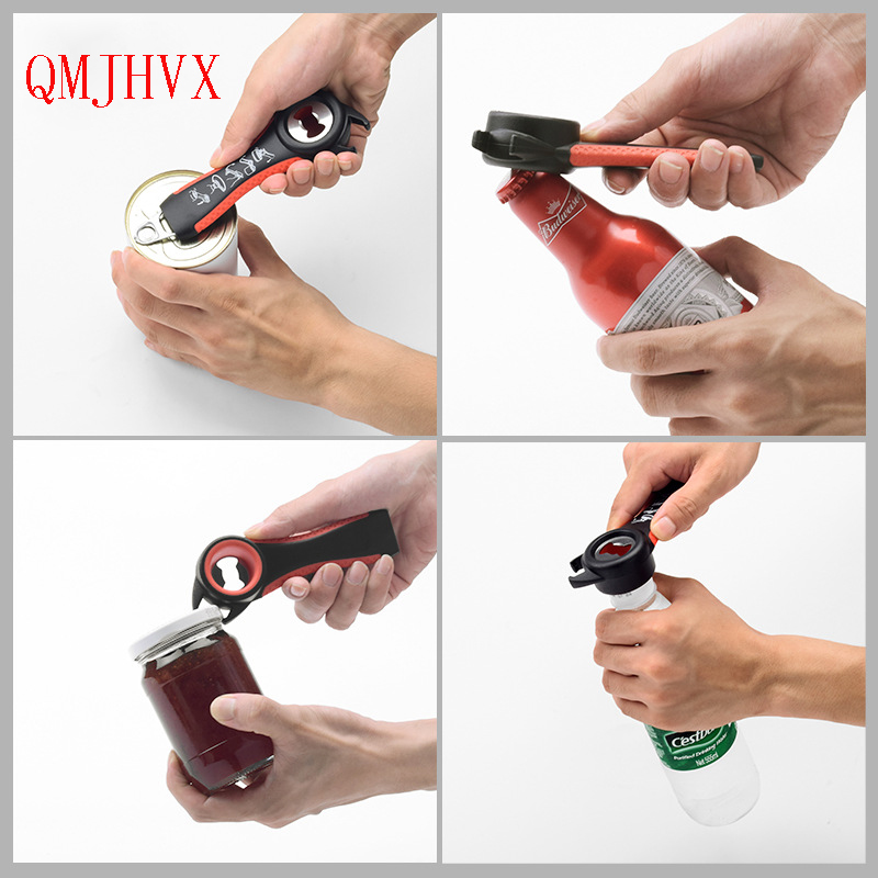 QMJHVX 5 in 1 Multi function  Stainless Steel plastic Can jar bottle open can Opener Beer Good Kitchen Manual Opener Tool tools