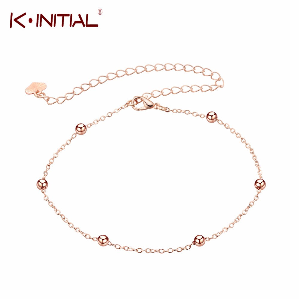 Simple Charm Hand Cuff Pineapple Ball Foot Feet Ankle Chain Anklet Bracelet for Women Girl Rose Gold Fashion Leg Chain Jewelry
