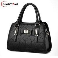 leather Women handbags 2018 new bag handbag female Korean fashion handbag Crossbody shaped sweet Shoulder Handbag L8-12
