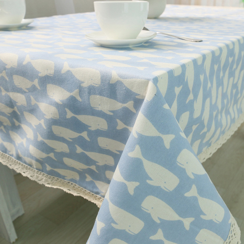 mediterranean style cotton table cloth table cloth fish