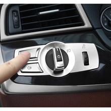 Хромированная АБС консоль, кнопки переключения фар, рамка, декоративная крышка, накладка, замена 3 шт. для BMW F10 F11 f01 f02 f03 F07 F25 F26