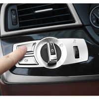 Chrom ABS Konsole Scheinwerfer Schalter Tasten Rahmen Dekoration Abdeckung Trim Ersatz 3 stücke Für BMW F10 F11 f01 f02 f03 f07 F25 F26