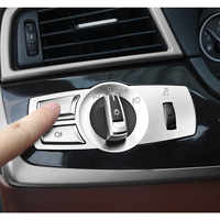 Chrome ABS Console Headlight Switch Buttons Frame Decoration Cover Trim Replacement 3pcs For BMW F10 F11 f01 f02 f03 F07 F25 F26