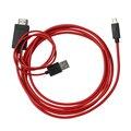 1.8 М 11Pin МХЛ Micro USB к HDMI Конвертер 1080 P HD TV кабель-Адаптер для Sumsung i9003 i9004 i9005 с 11 Выводами Micro USB