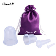 4pcs Silicone Facial Massage Cupping Set Vacuum Body Massager Cups Cellulite Therapy Face Suction Kit Helper with Bag