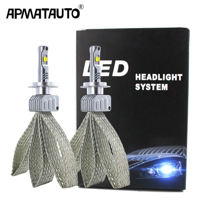 2x Car LED H7 9006 H16 JP bulbs 90W 9000LM FOR XHP50 Chips LED Headlight White