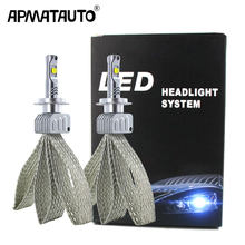 2x Car LED H7 9006 H16(JP) bulbs 90W 9000LM FOR XHP50 Chips LED Headlight White Lamps led H4 9012 H11 HB3 HB4 H8 9005 fog Light(China)