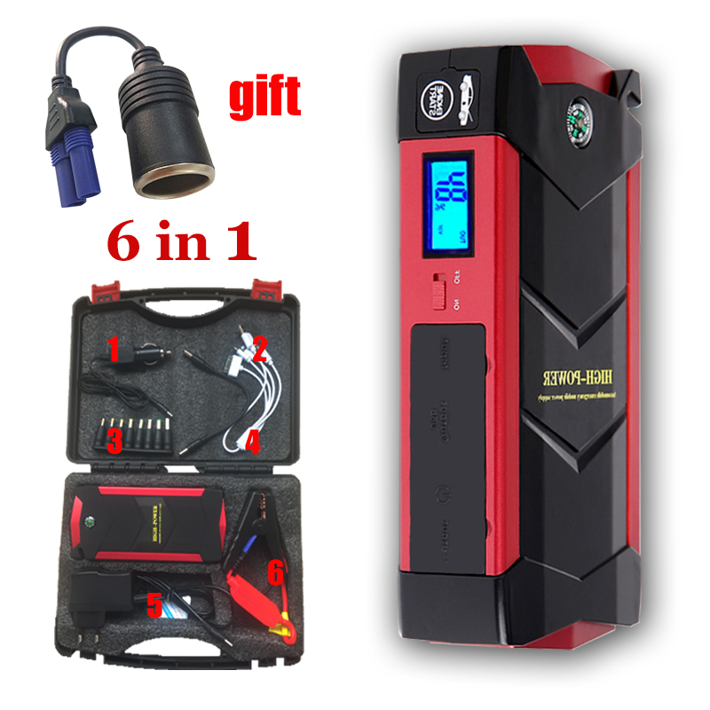 Car-Battery Jump-Starter Smart-Power-Clips 600A Emergency Charging-System 18000mah And