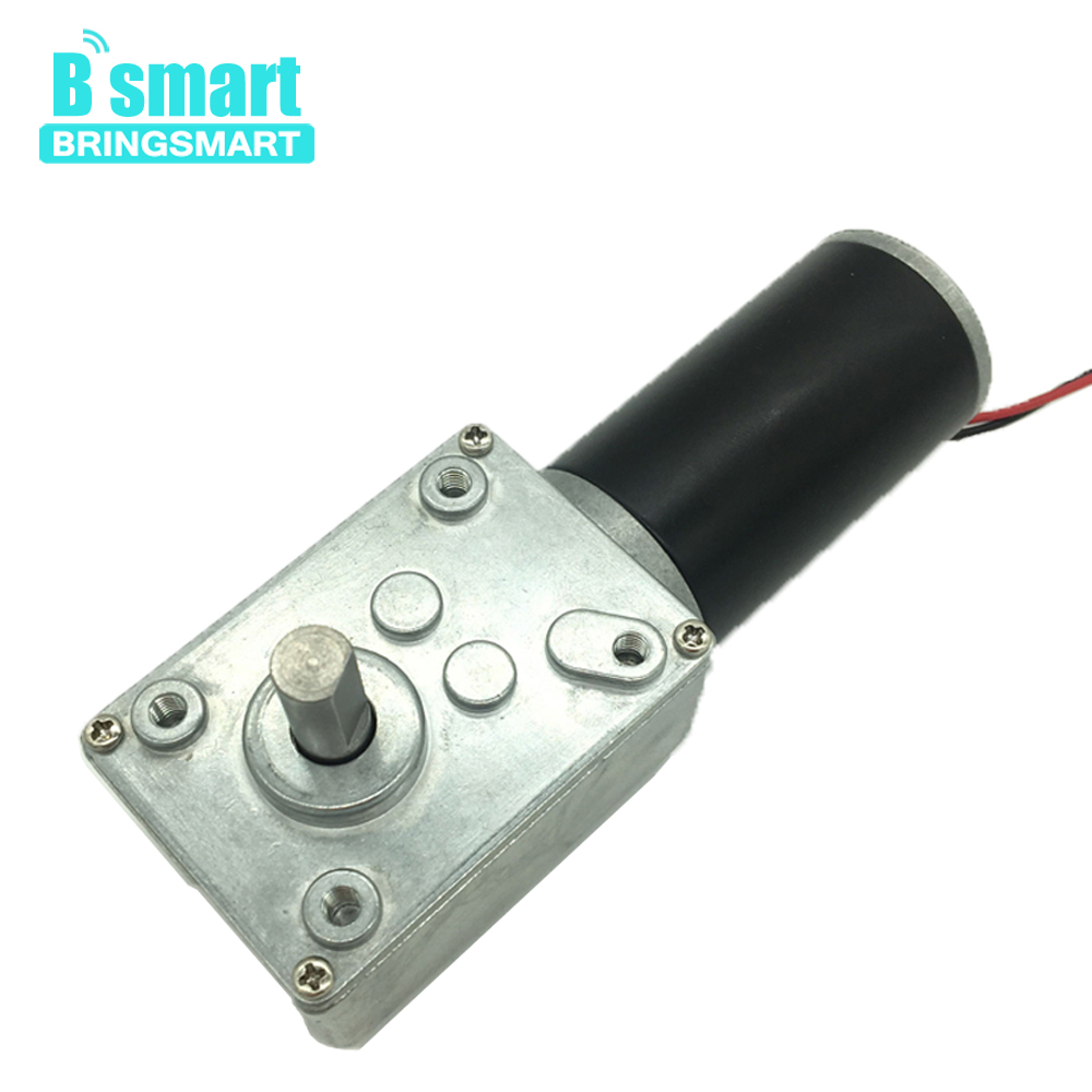 Bringsmart 12V 24V DC Worm Gear Motor High Torque 70kg.cm Mini Electric Motor CW/CCW Self-lock Engine DIY Part A58SW31ZY Machine bringsmart worm gear motor high torque 70kg cm 12v dc motor mini gearbox 24v motor reversed self lock engine diy parts a58sw31zy