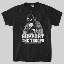 """""""Support The Troops – ANIMAL LIBERATION FRONT"""" t-shirt"""