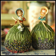 Miniature Fairy Figurines Garden Decoration Kawaii Resin Figurines Girl Craft Free Shipping Set of 2