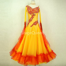 Custom Appliques Ballroom Dance Competition Dresses Women/Ballroom Dresses/Ballroom Waltz Dresses/Ballroom Dancing/Waltz Dress let s dance a waltz 1