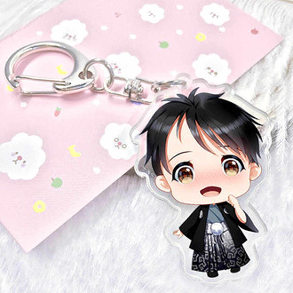Fantasia & Fantasy Anime Yuri!!! No Gelo Chaveiro Victor Nikiforov Yuri Katsuki Pingente Chaveiro Saco Do Telefone Bonito do Personagem Figura Charme