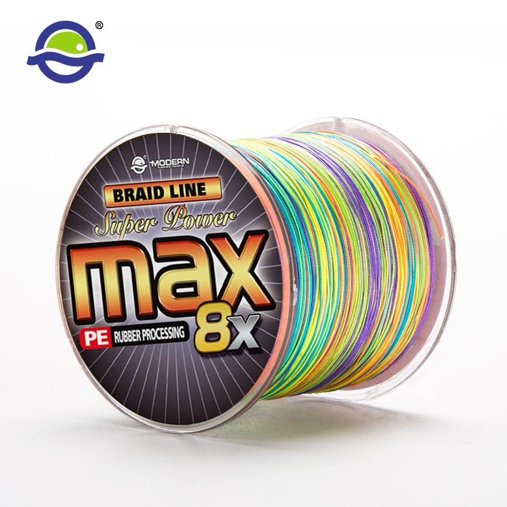 300M MODERN <font><b>FISHING</b></font> Brand MAX8X series multicolor 10M 1 Color mulifilament Japan PE Braided <font><b>Fishing</b></font> <font><b>Line</b></font> <font><b>8</b></font> <font><b>Strands</b></font> Braided Wires