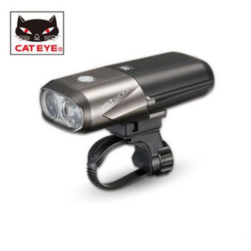 CATEYE HL-EL1000RC USB Rechargeable bicycle light VOLT1200 lamp headlights mountain bike cycling equipment accessories cateye hl el930rc bike rechargeable lamp super bright sumo3 light bicycle headlights