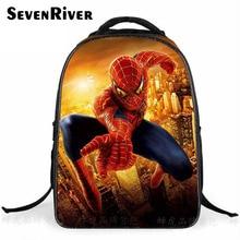 Baby Boy Primary Cartoon Backpack Double Shoulder School Bag Fashion Spiderman Bag Kid Printing Backpack
