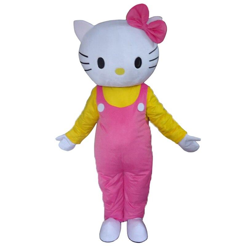 Flambant neuf Adulte costume de mascotte de dessin-animé Mignon Hello Kitty rose déguisement