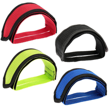 цены на 1 Pair Anti-slip Cycling Pedal Bands Bike Bicycle Pedals Bicycle Fixed Gear Cycling Pedals Bands Feet Set With Straps #2  в интернет-магазинах