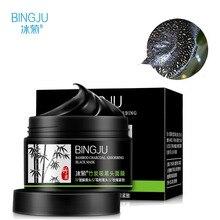 BINGJU Bamboo Black Mask Acne Treatment Blackhead Remover Peel Off Black Head Anti Acne Charcoal Face Mask Skin Care 120g