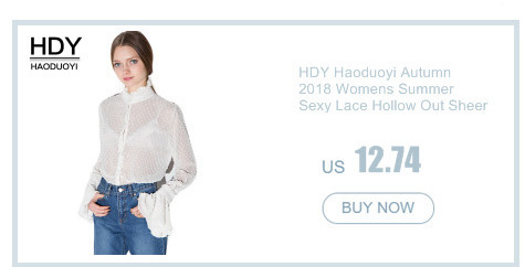 HDY Haoduoyi 2019 Fashion Shirt Women Casual Loose Full Sleeve Sequined Hollow Out Tops Brief Solid White Split Summer Blouse