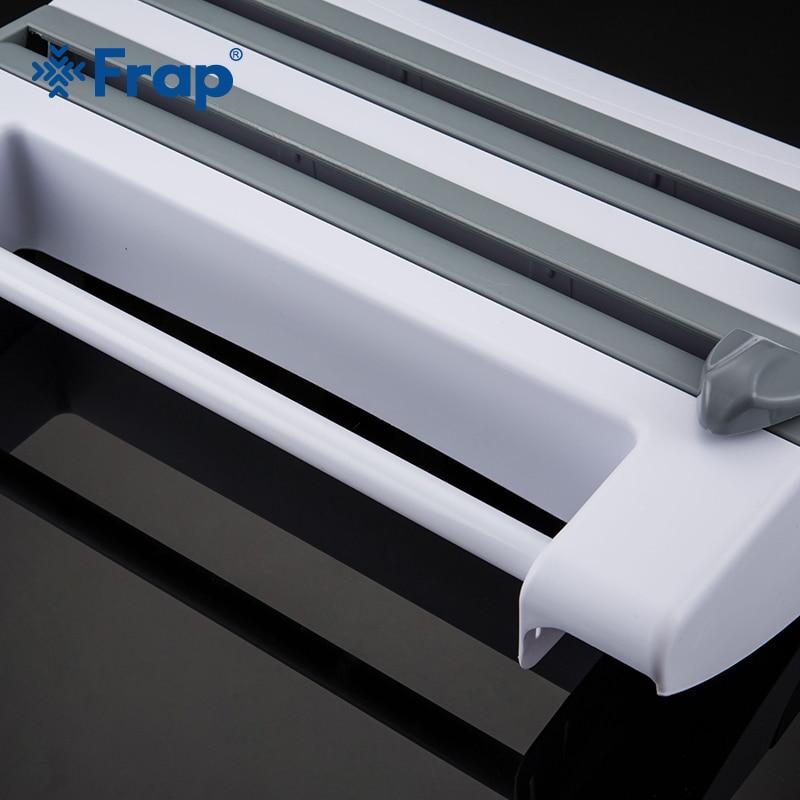 Frap Kitchen Racks Refrigerator Cling Film Storage Rack Wrap Cutter Wall Hanging Paper Towel Holder Kitchen Organizer Y14018/-1 4