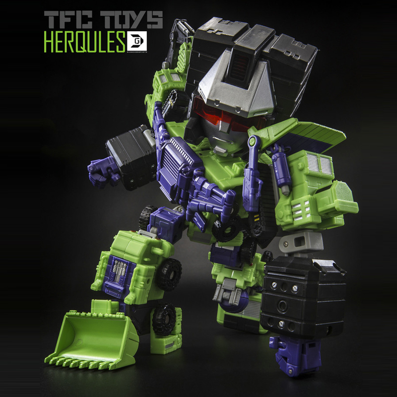 (IN STOCK) Toy TFC PS-03 HerQules SD Model 20cm Devastator With Alloy And The Glitter