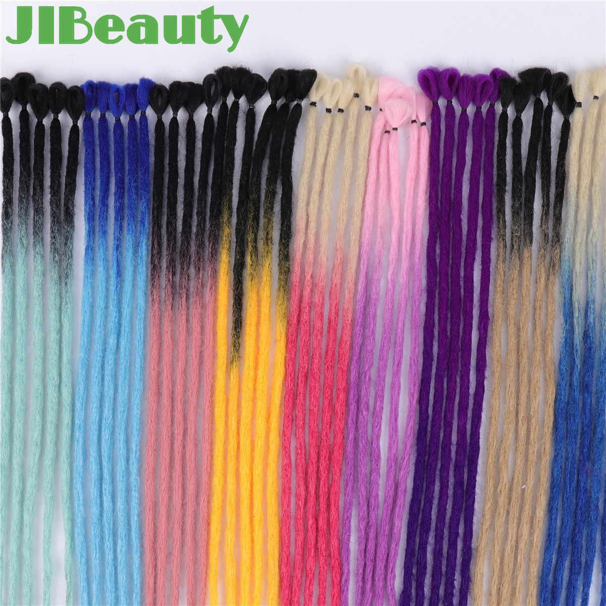"""QIANJI 20 """"100% ручной работы дреды для наращивания синтетическое вязание спицами плетение волос для мужчин и женщин черный 1 корень"""