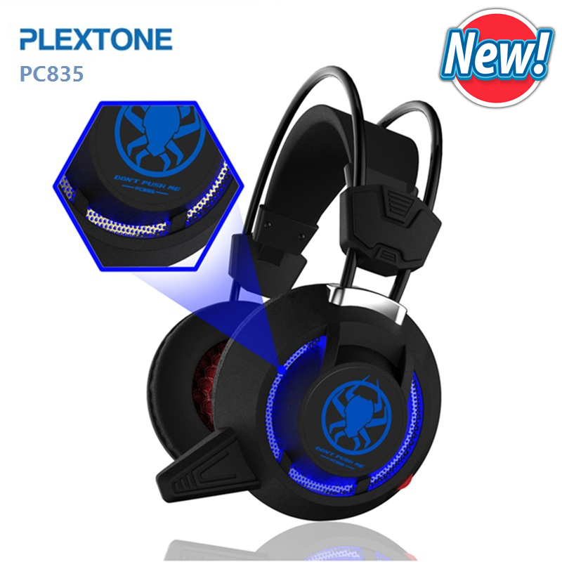Gaming Headphone Usb Led Light For Computer PC notebook PLEXTONE PC835 Over Ear Game Headset Wired Headphone with Mic 2.2m Cable super bass gaming headphones with light big over ear led headphone usb with microphone phone wired game headset for computer pc