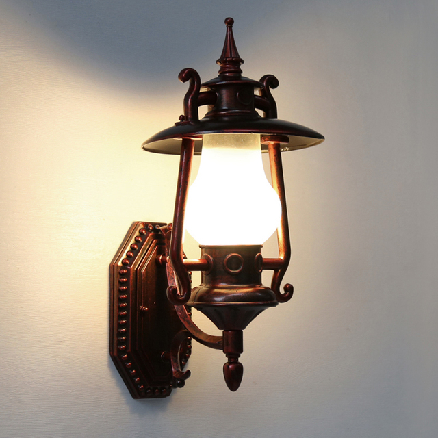 Vintage Chinese Wall Lamps Courtyard Outside The Balcony Hanging Kerosene Bottle Shop Lantern Waterproof Outdoor Lamp