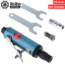 TORO TR-4166 1/4 Straight Shank Collet Pneumatic Grinding Machine Air Die Grinder for  Grinding /Tire Repair / Polishing toro tr 4152 1 4 25000rpm extended shaft straight shank pneumatic grinding machine air die grinder for grinding engraving