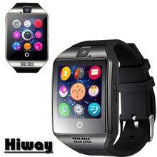 Nuevo Q18 Pasómetro reloj Inteligente con Pantalla Táctil de La Cámara TF tarjeta Bluetooth smartwatch Para Android/IOS Teléfono Móvil Apro DZ09 GT08