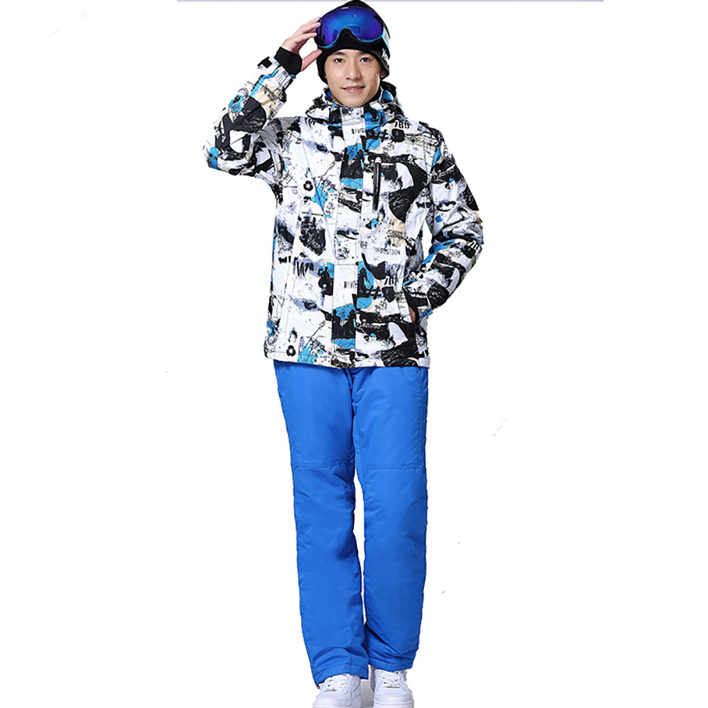 цены New arrival 2016 male ski suits snowboard suit jacket+pants set men waterproof breathable thermal cotton-padded winter snow coat