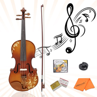 Violin with Bow String Rosin Mute Case Aston 4/4 Spruce wood Carving AV 30 Exquisite Appearance Convenient Spruce Wood Rosin
