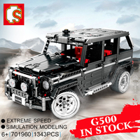 Sembo Banz G500 AWD WAGON Compatible Legoing Technic Moc 2425 Building Blocks Bricks Educational Toys Birthdays Diy Gifts