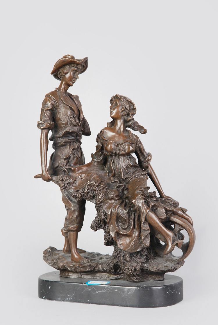 buy classical bronze statues lovers figurines romantic couple sculpture for new. Black Bedroom Furniture Sets. Home Design Ideas