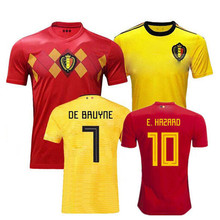 2018 2019 adults Belgium shirts football shirt adult shirt E.HAZARD MERTENS  DE BRUYNE R.LUKAKU Casual men T-shirt soccer jersey e5d9dc304