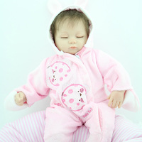 New Baby Gifts 18 Inches 45CM Lifelike Reals Soft Silicone Baby Reborn Doll Girls Boys Lovely