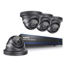 SANNCE 4CH 1080P HD CCTV System with 4PCS 2.0MP Dome Kind AHD Safety Surveillance System Digicam DVR Package
