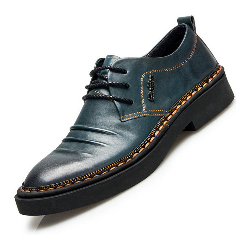 breathable spring and autumn boots new leather fashion casual men 39 s shoes trend breathable men business shoes British retro in Men 39 s Casual Shoes from Shoes