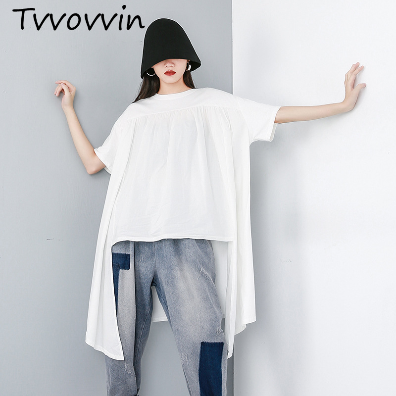 Women Loose t-Shirt Batwing-Sleeves Female Fashion Summer Cuted Pullover Top-V539 Round-Neck