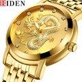 2019 BIDEN золотые кварцевые часы Топ бренд Роскошные мужские часы модные мужские наручные часы из нержавеющей стали Relogio Masculino Saatler