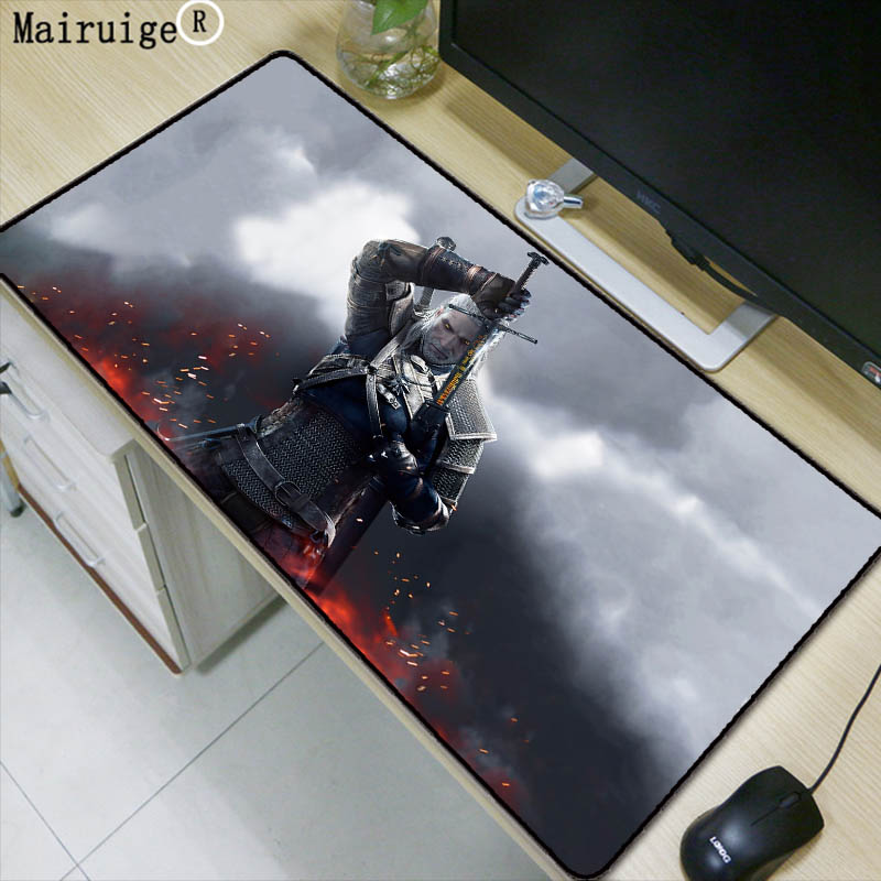 Mairuige Witcher3 logo Character Print Game Mouse Pad Laptop Peripheral Keyboard Pad Large Size 40*90 Mat Rug Gift