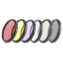 SHOOT 6 In 1 52mm UV Lens Filter Set For GoPro Hero 4 3+ Action Camera With Adapter Ring Lens Cap Accessories for GoPro Filter