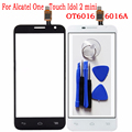 Touchscreen Sensor For Alcatel One Touch Idol 2 mini 6016 OT6016 6016A Touch Screen Glass Digitizer Front Outer Touch Panel+Tool