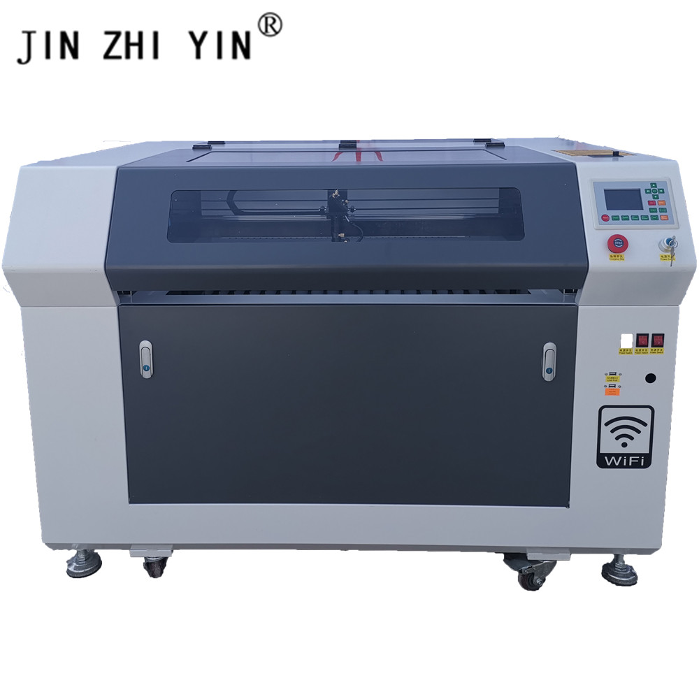 100W CO2 Laser Engraver Ruida Controller Support Wifi Laser Cutter Engraving Plywood 600X900mm