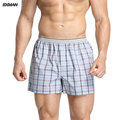 BXMAN 100% Cotton Woven Classic Plaid Pattern Loose High Quality Men Boxer Shorts Men's Underwear The Best Gifts For Men