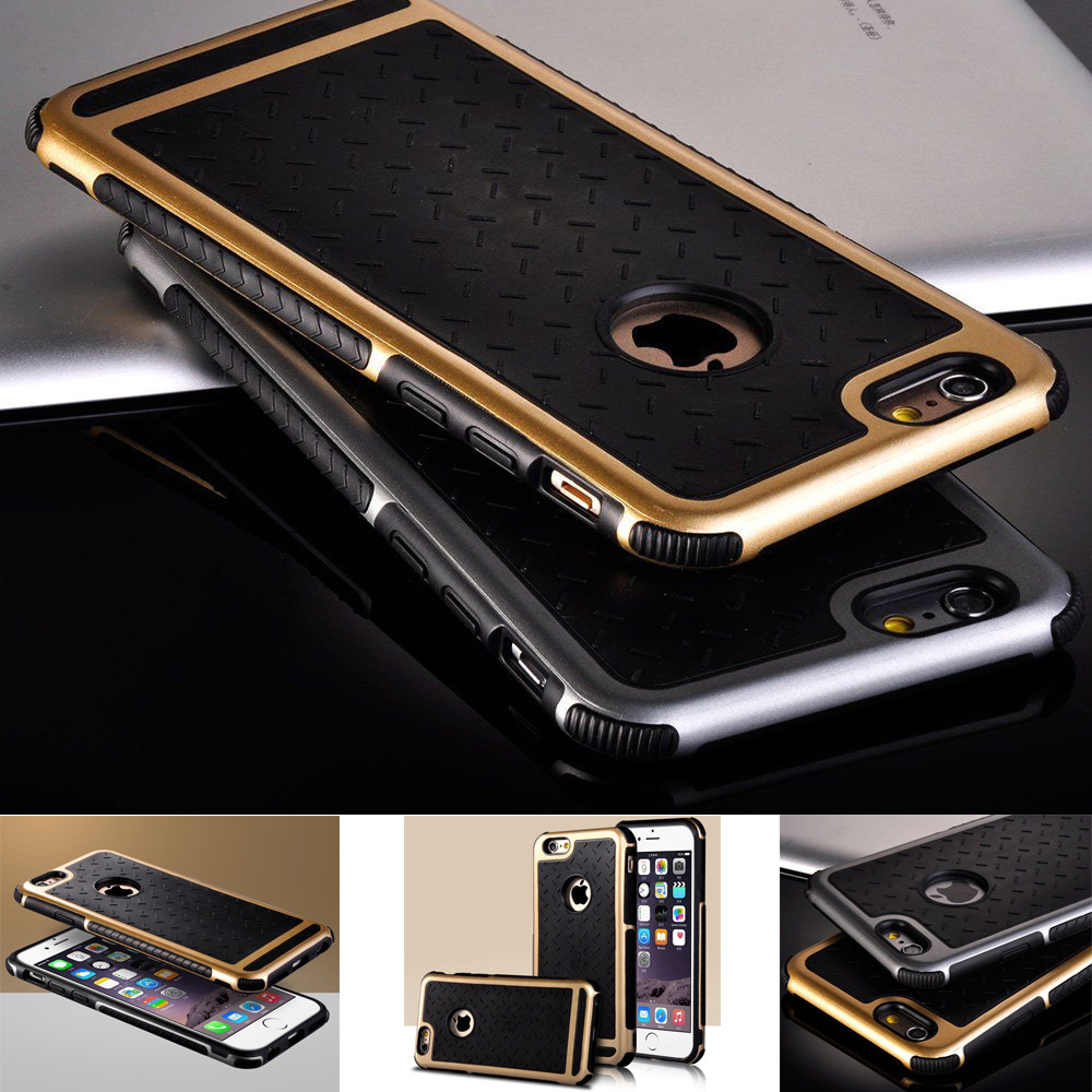 new style ecb4f ffb94 US $4.27 41% OFF|5S New Luxury Phone Cases For Apple iPhone 5 5Se 6 /6s  Plus 5.5 Rubber Hybrid PC Back Cover Rugged Matte Hard Back Phone  Housing-in ...
