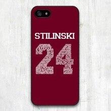 Teen wolf stilinski 24 palavras de plástico rígido caso capa para iphone 4/4s/5/5s/5c/se/6/6 plus/7/7 plus